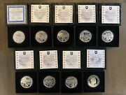 Seven Sins Of Obama 91oz Proof Set Silver Shield With Coa's