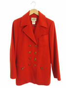 Hermes Riri Zipper Made In France Outer Double Coat Size40 Women And039s Week _59339