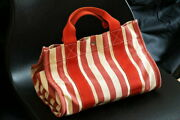 Hermes Cannes Pm Red With Accessory Case Secondhand Popularity Canvas Ser _51482