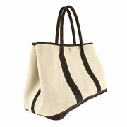Hermes Garden Party Pm Beige Brown Twal Ash Tote Bag Sse Secondhand _50965