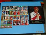 Baseball Card Ozzie Smith - 29 Cards And 1 Photo Wall Plaque