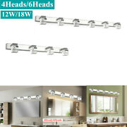 Crystal Cube Led Mirror Light Front Modern Bathroom Sconce Wall Fixtures Used