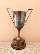 """69 Years Old 11.5"""" Tall Vintage Shabby Chic Silver 50's Trophy 16 Free Uk Pandp"""