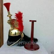 Nautical Brass French Napoleon Helmet Cuirassier On Wood Stand Officer's Style