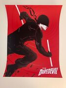 Daredevil Matthew Woodson Ap Poster Num X/35 Sold Out Official Marvel Print