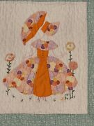 Vintage 30and039s Parasol Ladies Cutter Quilt Read