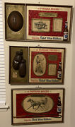 Vintage Pabst Blue Ribbon Beer 3d Boxing Sign Football Trotters Lot 30 X 20.5
