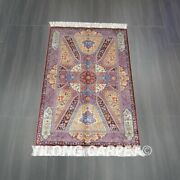 Yilong 3and039x5and039 Handwoven Silk Carpet Unique Pattern Indoor Villa Area Rug Z535a