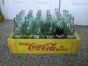 Vintage Crate Of 24 Coca Cola Acl Soda Bottles 10 And 12 Oz.