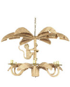Mario Lopez Torres Chandelier Monkey And Palm Leaf Ceiling Fixture Lighting Light