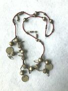 Central American Guatemalan Necklace Antique Very Old Coins Glass Beads Jewelry