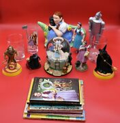 Wizard Of Oz Lot Of 6 Dorothy Teapot Figure 50th Anniversary Glass Dvd