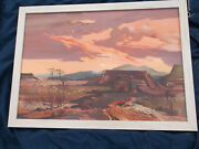 Laurence Sissonnew Mexico Oil/canvas Landscapesurrealismmany Museumsmaine