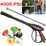 4000psi High Pressure Power Washer Spray Gun Wand Lance Andnozzle With 29.5ft Hose