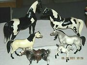 Vintage Mixed Lot Of Hartland Breyer And Unmarked Plastic Horses