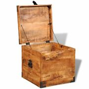 Home Decor Old Distressed Rough Mango Wood Blanket Storage Chests Boxes Trunks
