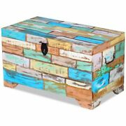 Vintage Art Solid Reclaimed Wood Storage Chest Box Trunk Coffee Side Couch Table