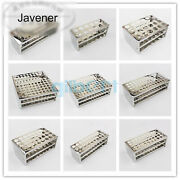 Hole Dia 13.5-30mm 304 Stainless Steel Test Tube Rack Holder Science Lab Stroge