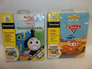 Lot Of 2 Leap Frog My First Leappad Thomas And Cars Preschool Book And Cartridge