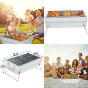 Outdoor Bbq Grill Charcoal Barbeque Portable Camping Picnic Stainless Steel Cook