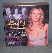 Buffy The Vampire Slayer 4 Collector Plates - Series 2 - Limited Rare New