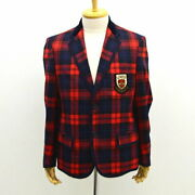 Tailored Jacket Check Red 2b Lesson 18ss 495139 Mens Men Man Boys _2084