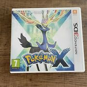 Pokemon X Nintendo 3ds Complete With Manual - Very Good Condition - Free Postage