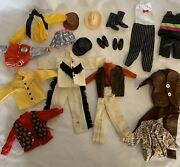 Vintage Ken And Barbie Clothes And Hats And Boots And Shoes