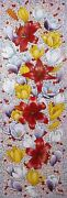 Anastasia Woron Flowers Cheerful Original Signed By Author Oil Painting 2020