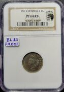 1873 Indian Cent Closed 3 - Ngc Pf 64 Rb Blue Proof - Eagle Eye Photo Sealed