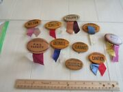 Vintage Football Pin Set From 1950's - 10 Pins