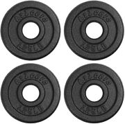 A2zcare Standard Cast Iron Weight Plates 1-inch Center-hole 1.25 Lbs- Set Of 4