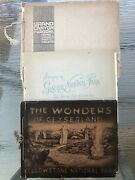3 Early National Park Souvenir Books With Hand Colored Photographic Plates