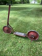 Vintage Colson Company Fairy Discooter Scooter Red 1930andrsquos Toy Bike