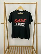 Vtg 80s Dare To Keep Kids Off Drugs Kfc Colonel Super Thin T-shirt Size L Usa