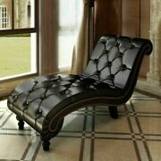 Artificial Leather Chaise Lounge Living Room Chair Leisure Indoor Sofa Couch New