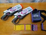 2 Nerf Rebelle Cornersight Dart Blaster Lot With Ammo Pouch And Darts