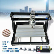 Cnc 3018 Pro Router Micro Usb Engraving Mill Grbl Control +5500mw Laser Head