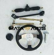 Go Kart Quad Parts 110cc 300mm Steering Wheel Assembly 420mm Gear Rack Pinion