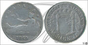 Spain - Coins Centenario- Year 1869 - Number 00034 - 50 Ct. 1869 69 Snm Ag
