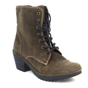 Fly London Suede Lace Up Mid Boots Woke Sludge