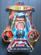 10th Doctor Who Interactive Sonic Laser Screwdriver Infrared Set Game New Boxed