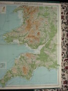 1920 Large Map England And Wales South Western Section Pembroke Devon Somerset