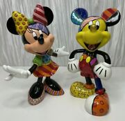 Disney By Britto Mickey And Minnie Mouse Figurines 4019372 And 4023846
