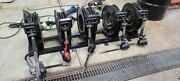 Industrial 5 Oil Reel Set Up W/balcrank And Graco Dispensers Mounting Rack Hoses