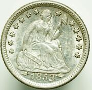 1853-o Seated Liberty Half Dime Type 4 Arrows At Date