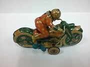 Antique Vintage Old Rare Collectible Japan Tin Toy Bike Wind Up