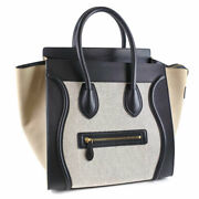 Celine Luggage Mini Canvas Suede Gray Women And039s Hand _74563