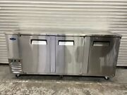Open Box 90 Back Bar Beer Refrigerator Cooler Stainless Atosa Mbb90gr 6078-ob