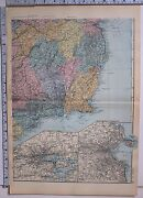 1891 Antique Map Ireland South East Environs Of Cork Dublin Wicklow Waterford
